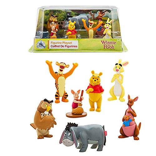 Juego de Figuras Oficial de Disney Winnie The Pooh - Winnie The Pooh, Tigger, Piglet, Eeyore Rabbit, Owl, Kanga y Roo