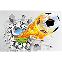 iTemer Vinilos decorativos pared dormitorio Stickers Pegatinas pared decorativas Decoracion pared Un hermoso regalo Fútbol 3D Llama 50 × 70cm 1 set