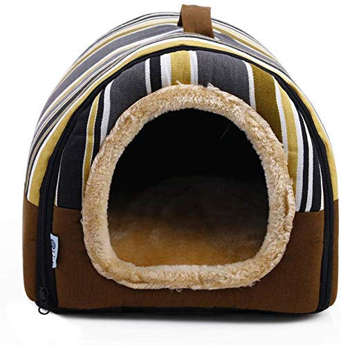 AFDK Plegable 2 1 Cat Igloo Cave House Sofá cama