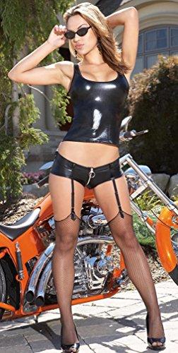 Coquette groß schwarz sexy Shorts mit Strumpfbändern