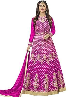 Lajree Designer Women's Silk New Arrival Fancy Salwar suit for Wedding Wear Punjabi Salwar Kameez Floor Length semi stitched Pink color(LN-12099)