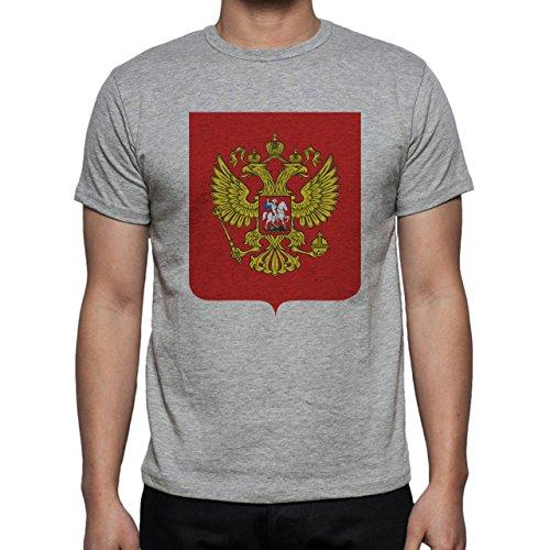 Russia Country Symbol Put In Red Herren T-Shirt Grau