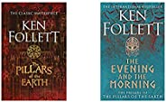 The Pillars of the Earth + The Evening and the Morning (prequel of The Pillars of the Earth) (Set of 2 Books)