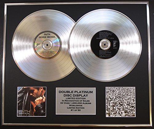 GEORGE MICHAEL/DOPPO CD PLATINO DISC RECORD/Edizione LTD/Certificato di autenticità/FAITH & LISTEN WITHOUT PREJUDICE