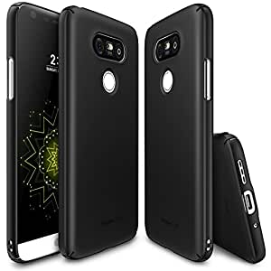 LG G5 Case, Ringke [SLIM] Snug-Fit Slender [Tailored Cutouts] Ultra-Thin Side to Side Edge Coverage Superior Coating PC Hard Skin for LG G5 2016 - SF Black