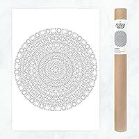 Mandala Poster aus Kristallen und Diamanten zum Ausmalen als DIY Dekoration und kreatives Hobby
