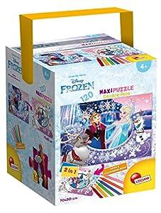 Lisciani Giochi 53544-Puzzle (a Tub Maxi Frozen, 120Unidades), Multicolor