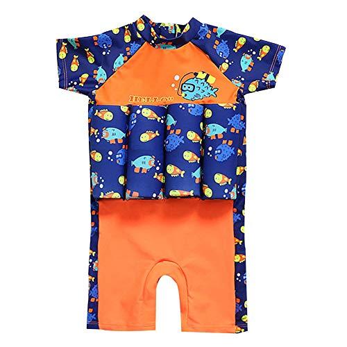 AMIYAN Kinder Jungen Float Suit Bojen-Badeanzug Niedlich Dinosaurier Badeanzug mit Schwimmhilfe Training Swimwear für Strand Baden (Höhe 80-90cm)