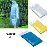 King Shine Pro Rain Guard Disposable Emergency Rain Poncho with Hood Clear Raincoat