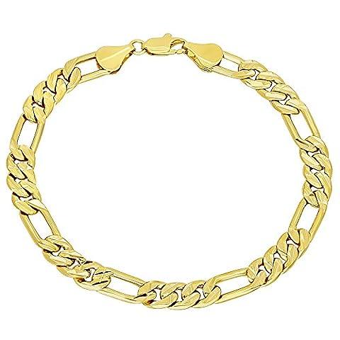 Bracelet en chaîne à chaîne de ficelle à diamant plaqué
