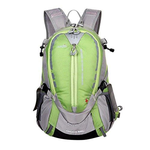 Wanderrucksack, iTECHOR 25L Outdoor Sport Wasserdicht Klettern Reisen Wanderrucksack Trekkingrucksack Fahrradrucksack,46×32×20cm/18,11×12,59×7,87in Green