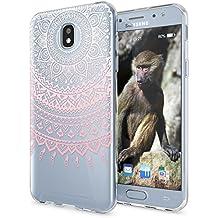 Samsung Galaxy J5 2017 (EU-Modell) Funda Carcasa de NICA, Protectora Movil TPU Silicona Ultra-Fina Gel Transparente / Cubierta Goma Bumper Cover Case Clear para J5-2017, Designs:Mandala Pink Rosa