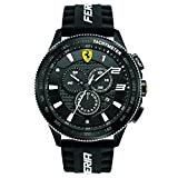 Ferrari Scuderia SF 116 XX 0830242 44mm Metal Case Black Silicone Mineral Men's Watch