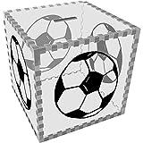 Azeeda Groß 'Hand Gezeichneter Fußball' Klar Sparbüchse / Spardose (MB00024001)