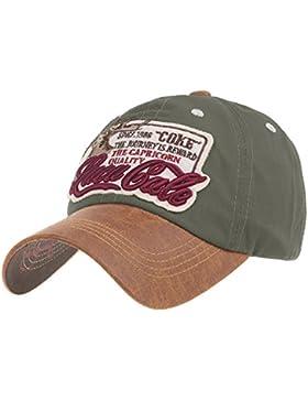 WITHMOONS Gorras de béisbol gorra de Trucker sombrero de Baseball Cap Faux Leather Brim Trucker Hat Capricorn...
