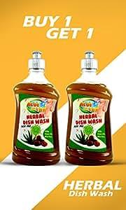 Sarv Aloe Clean Herbal Dish Wash & Slab Gel 500 Ml (Pack Of 2)