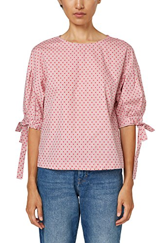 edc by ESPRIT Damen Bluse 028CC1F003, Rot (Red 630), X-Large