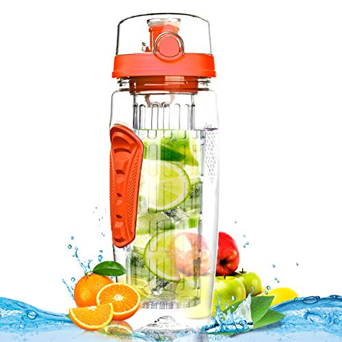 Botella de Agua de Tritan de 900ml con Infusor de Esencia de Frutas sin...