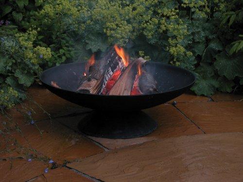 Esschert Design Gußeiserne Feuerschale niedrig L, schwarz, 59x59x20.5 cm, FF44 -