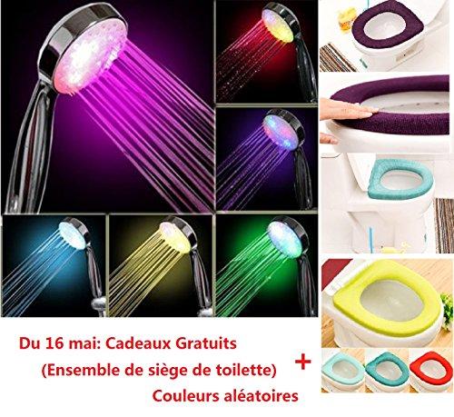 Covermason Briller de nouveau 7 couleur romantique LED lumière Bright eau maison en bain pommeau de douche salle de bains