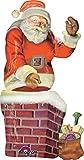 Amscan International-316390173x 134cm'gigante de Papá Noel y chimenea de' Multi...