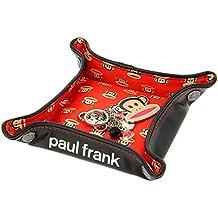 Paul Frank para Hombre impresión Rojo Bandeja de Almacenamiento – Negro
