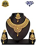 #10: NMJ Copper Bridal LCT Necklace Maang Tikka Choker For Women