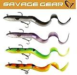 4 Savage Gear Real Eels 40cm Hechtköder, Hechtangeln, Raubfischangeln, Großhecht, Köderset, Angeln auf Raubfische, Wallerköder
