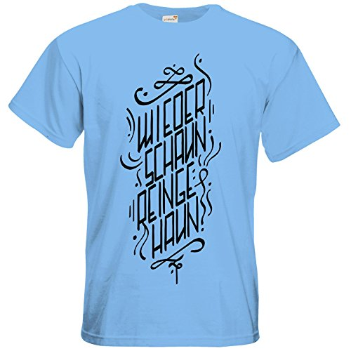 getshirts - Rocket Beans TV Official Merchandising - T-Shirt - Wiederschaun  reingehaun Sky Blue