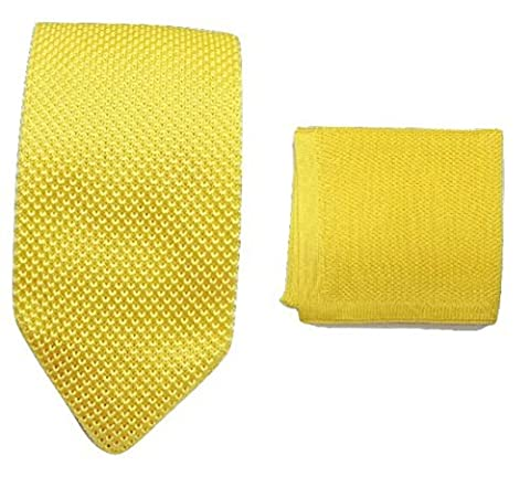 L&L® Hand Made Men's Fashion Knit Knitted Tie+Hankerchief Set Hanky