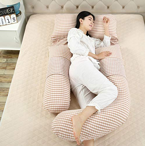 QZXCD Schwangerschaft Mutterschaft Unterstützung Kissen Gürtel Kissen Mutterschaft Kissen für Schwangere 100% Baumwolle große große G-förmige 180x110x80cm (Mutterschaft Unterstützung Gürtel)