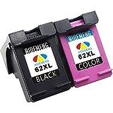 AideMeng Wiederaufbereitet für HP 62XL Multipack Druckerpatronen (1 Schwarz, 1 Dreifarbig) Kompatibel für HP Envy 5540 5640 7640, HP OfficeJet 5740 200 5742, HP Color LaserJet CP4025dn CP4025n Drucker