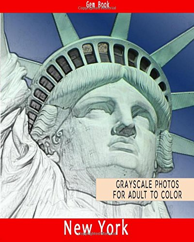 New York II USA: Beautiful Cities: A Grayscale Adult Coloring Book of Cities, New York II USA (Coloring Books for Grown-Ups, Band 1)