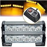 Menggood 2016 Nuevo 2 x 6 LED de 12V ámbar del coche del vehículo de luz estroboscópica flash destella Peligro de luz de lámpara con interruptor de arnés