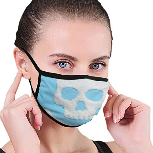 Skull Made Sugar On Blue Background Face Cover for Cycling Camping Outdoor