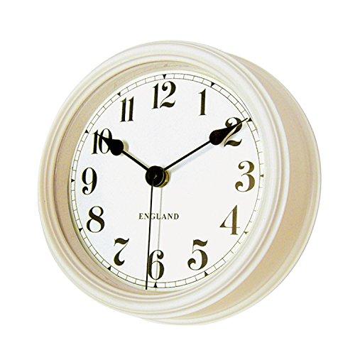 Vintage-Runde Wand-Uhr Quarz-Zeit, Die Nicht Tickt Home-Office, Schlafzimmer, Küche Neu (Weiß) (Howard Miller-wand-uhren)