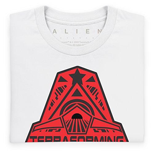Official Alien: Covenant Crew Terraforming Logo T-Shirt, Herren Wei
