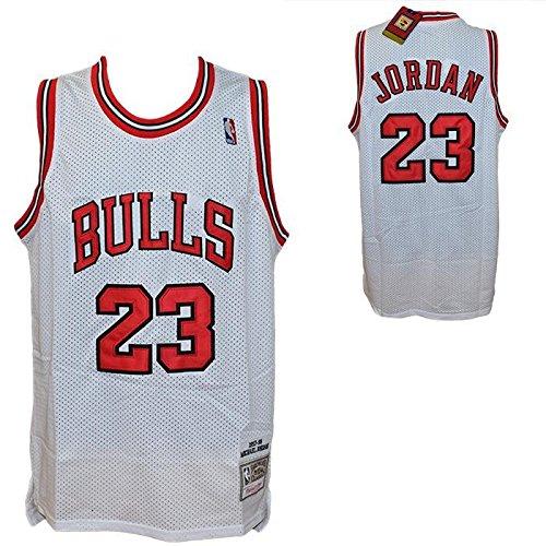 Débardeur blanc Retro Vintage–Michael Jordan NBA–Chicago Bulls–Taille L