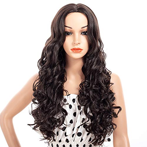 wenjj in der Langen Kopfbedeckung des lockigen Haares (Langen Lockigen Roten Perücke Kostüm)