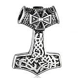 Tribal Spirit Steel Anhänger Thors Hammer Keltisch aus Massivem Edelstahl