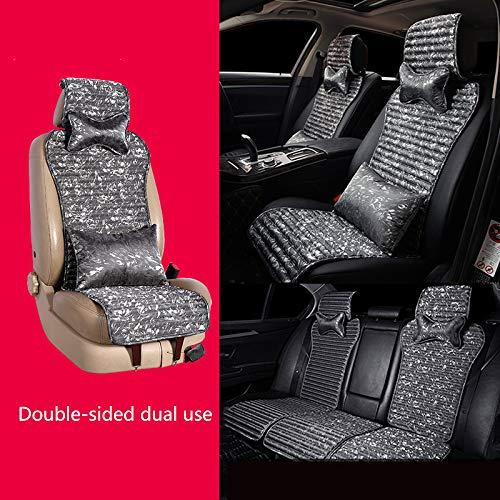 SSLL Autositzbezüge Auto Sitzbezüge Sitzkissen,Universal Buchweizenschale Füllen Massage Atmungsaktiv Kompatibel Sitzschutz Schonbezüge Autositz,Grey