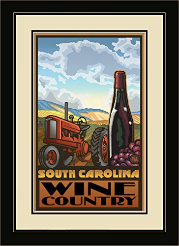 Northwest Art Mall pal-7076 fgdm WTRB South Carolina Wine Country 40,6 x 55,9 cm gerahmtes Wandbild Künstler Paul A. lanquist, 40,6 x 55,9 cm