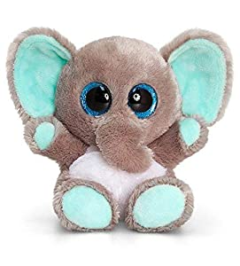 Keel Toys KEELTOYS - Peluche animotsu Elefante (25 cm), Color Gris y Azul