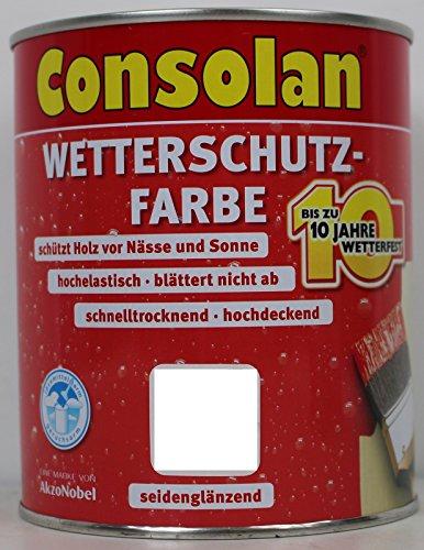 Preisvergleich Produktbild 2, 5 Liter Consolan Wetterschutzfarbe ,  grün Nr. 206