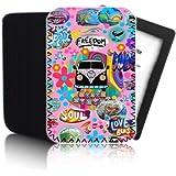 Bus Retro ' (Pink) PPW Schutzhülle für AMAZON KINDLE PAPERWHITE Tablet - Stoß - und wasserfest Dreibeinen Neopren - schneller Versand - UK