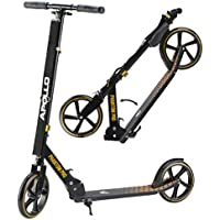 Apollo Big Wheel Scooter Roller - Phantom Pro ist Ein Luxus City Scooter, City-Roller klappbar Höhenverstellbar, Tret-Roller für Erwachsene und Kinder