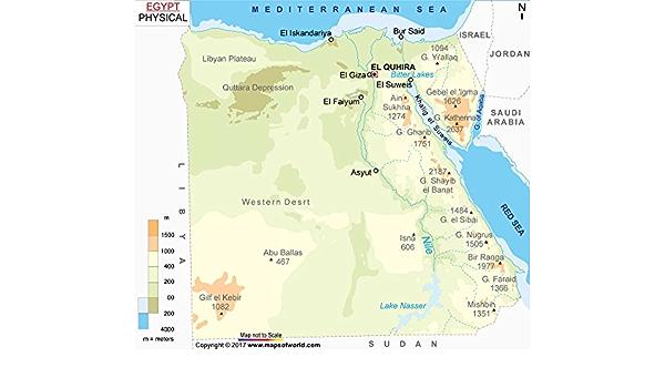 Cartina Egitto In Italiano.Egitto Mappa Fisica 91 4 Cm W X 80 8 Cm H Amazon It Cancelleria E Prodotti Per Ufficio