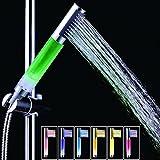 TP Mall soffione doccia LED 7cambia colore portatile da bagno soffione fisso regolabile mano pressione soffione doccia con luce LED