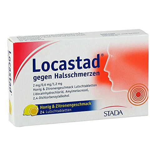 Locastad gegen Halsschmerzen Honig/Zitrone Lutschtabletten, 24 St.