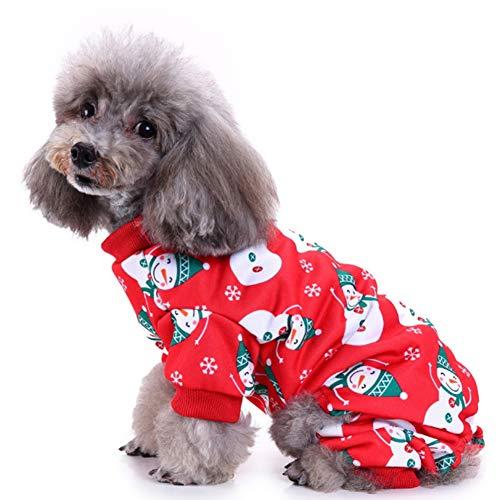 Hotumn Haustierkostüm Schneemann mit Schneeflocke, süße Kleidung für kleine Hunde und Katzen, M